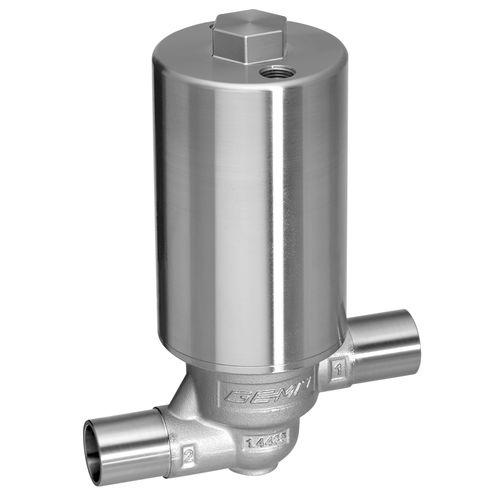 Abfüllventil / Membran / pneumatisch gesteuert / Edelstahl