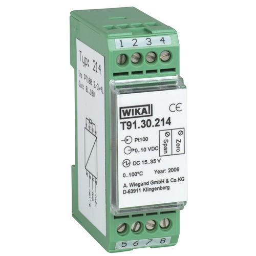 Temperaturmessumformer für DIN-Schienen / Thermoelement / Pt100 / Pt1000