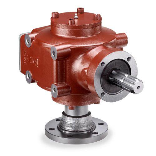 90°-Winkelgetriebe / aus Gusseisen / für Landmaschinen