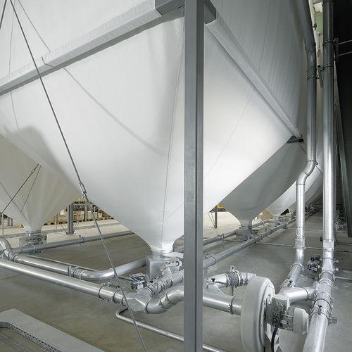 Flexibler Silo / Stoff 200 m³, 50 t A.B.S. Silo- und Förderanlagen