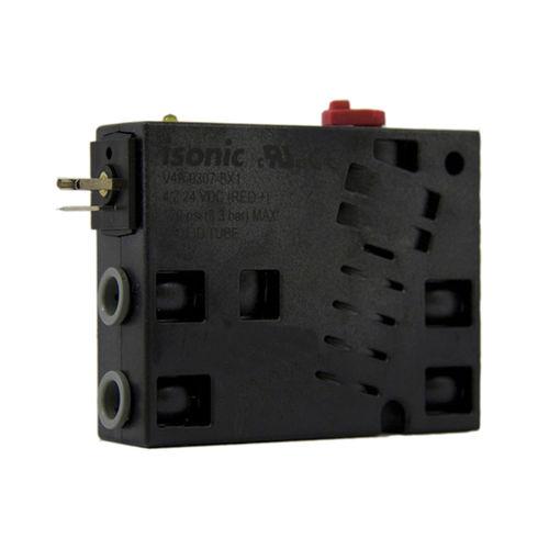 Magnetventil / pneumatisch gesteuert / Doppelflansch / aus Kunststoff