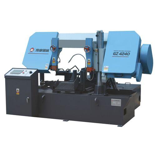 Bandsäge / für Rohre / mit Kühlsystem / mit Rollenförderband CE 400Hx400W GZ4240 Zhejiang Weiye Sawing Machine Co., Ltd