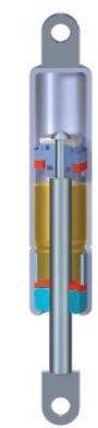 Gasfeder / hydraulische gedämpft