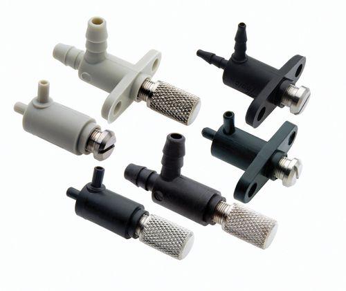 Nadelventil / pneumatisch gesteuert / Durchsatzkontrolle / für Luft