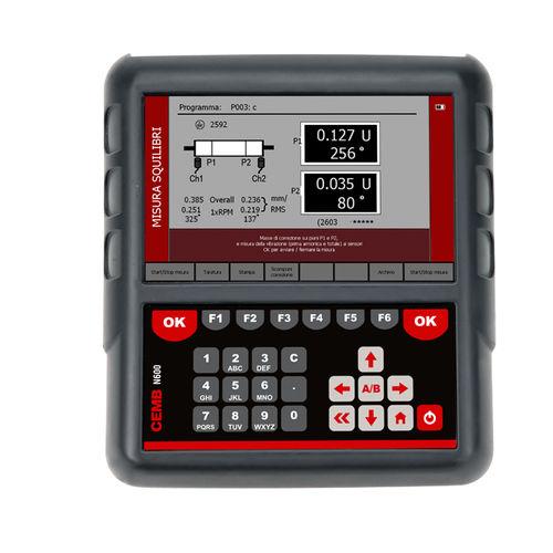 Schwingungsmessgerät zur prädiktiven Wartung / tragbar / mit Datenlogger / 2-Kanal