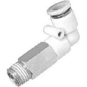 Gewindeanschluss / Schnell / 90°-Winkel / pneumatisch