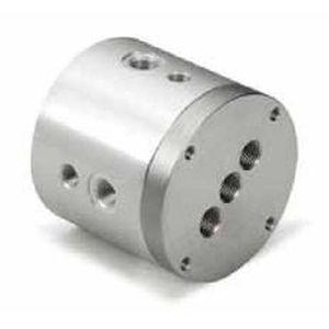 Drehdurchführung für Luft / 2-Wege / für Pneumatik-Anwendungen / kompakt