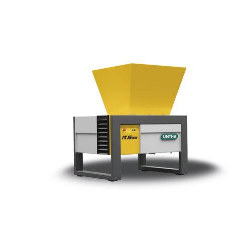 Vierwellenschredder / für Karton / für Elektronikschrott / Papier