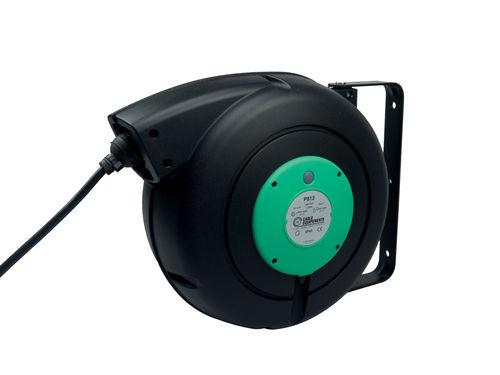 Aufwickler für Elektrokabel / einziehbar / feststehend / wandmontiert