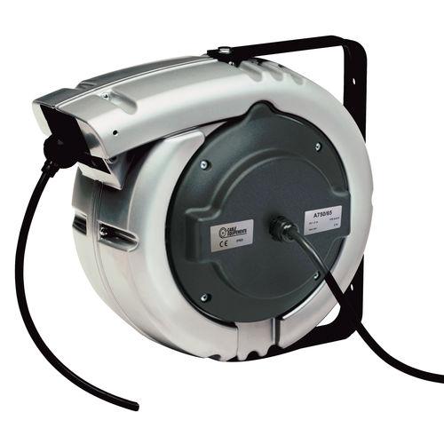 Aufwickler für Elektrokabel / einziehbar / wandmontiert / Aluminium
