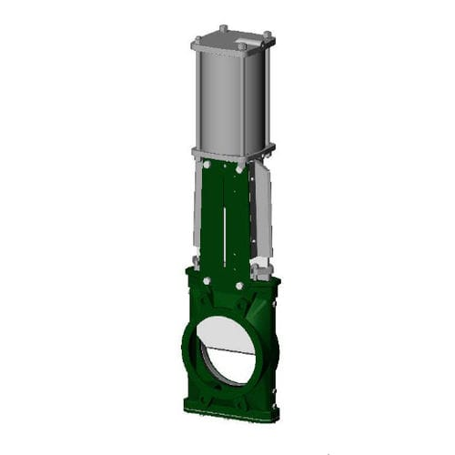 Ventil für Silos / Absperrschieber / pneumatisch gesteuert / Abwasser