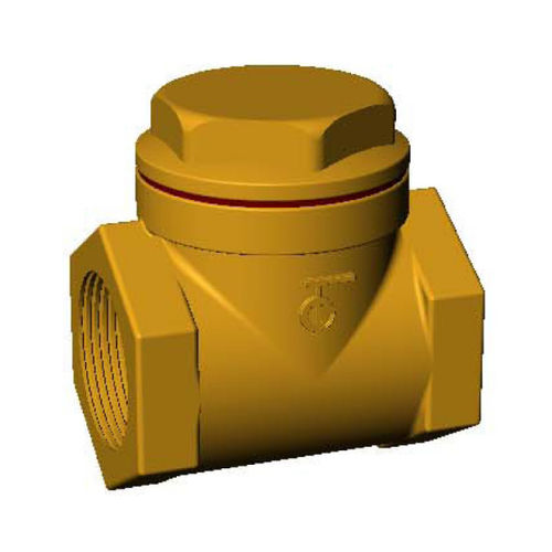 Bronze-Rückschlagventil / mit Schwingklappe / Gewinde / für Wasser