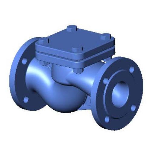 Gusseisenrückschlagventil / mit Ventil / Flansch / für Wasser