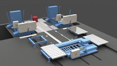 Wagen für Materialumschlag / für Presswerkzeug / schienenmontiert