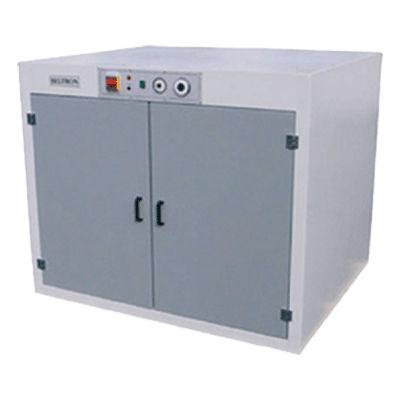 doppeltüriger Trockenschrank / Metall / mit Fußgestell / für Vertikal-Siebdruckrahmen