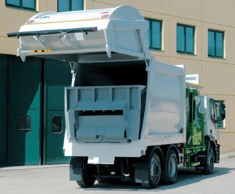 Seitenlader-Müllwagen CL1-E A.M.S. S.p.A. Attrezzature Meccaniche Speciali