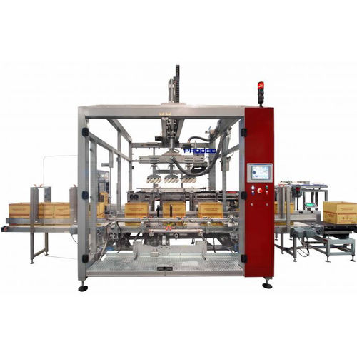 Pick-and-Place-Kartonpacker / Toplader / automatisch / für Flaschen D-600 Prodec Equipos de Envasado, S.A.U.