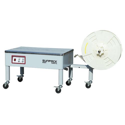 halbautomatische Umreifungsmaschine / für Spulen / mobil / vertikal