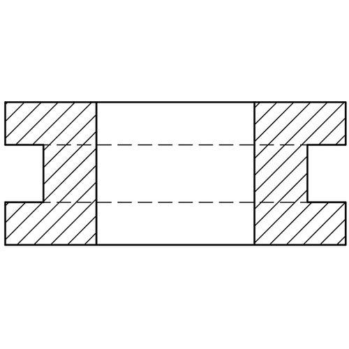 EPDM-Kabeldurchführung / offen ø 5 - 16.2 mm, RoHS A. Vogt GmbH & Co.KG
