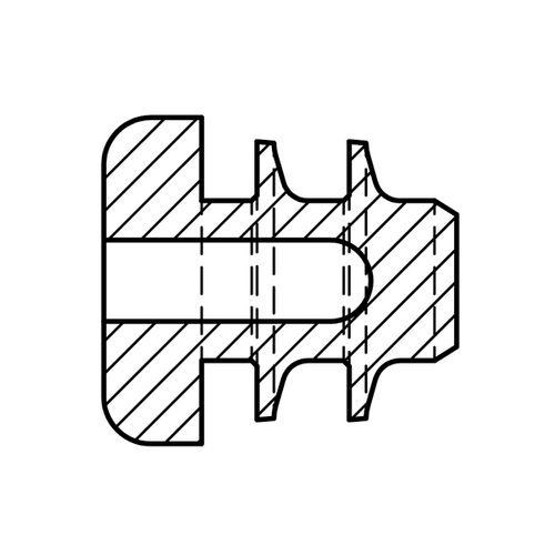 Lamellenstopfen / innenliegend / Gummi / Snap-In RoHS A. Vogt GmbH & Co.KG
