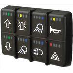 Schalter für Fahrzeuge / Wipp / mehrpolig / elektromechanisch