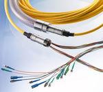 Datenübertragungs-Kabelkonfektion / Glasfaser / flexibel