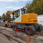 Zwischen-Bagger / Rad / für Baustelle / Diesel