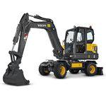 Minibagger / Rad / für Baustelle / Diesel