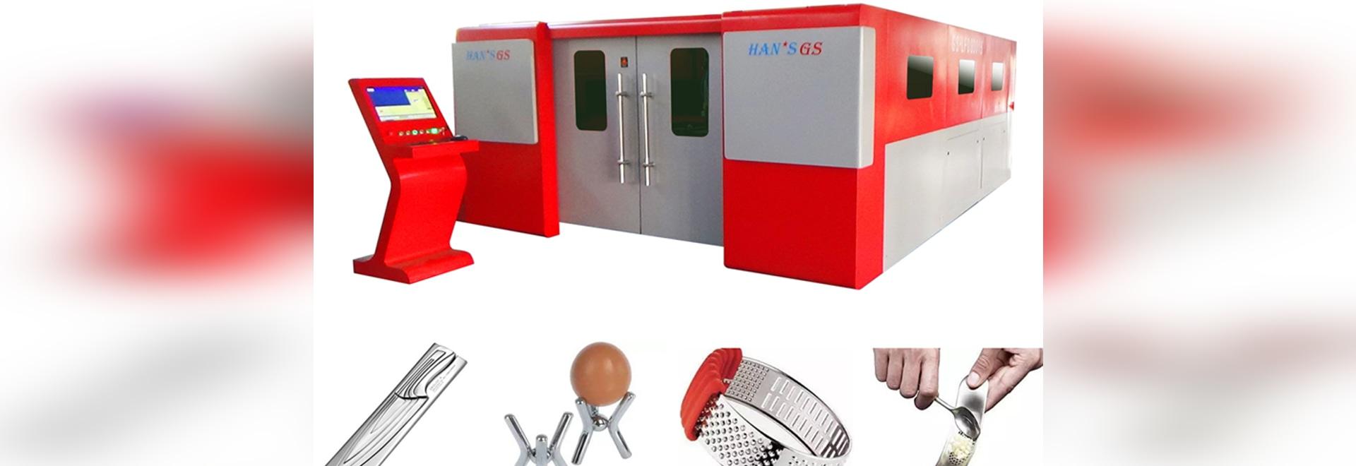 2 Jahre Faserlaser-Trennschneider Garantie HANS GS sind in der Küchengeschirrindustrie weitverbreitet