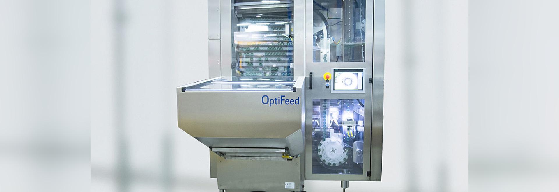 Erhöhter ergonomischer und untererer Energieverbrauch mit OptiFeed™, die neue Kappenzufuhrplattform von Gebo