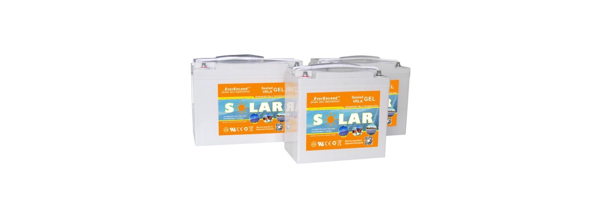 EverExceeds Solargel-Strecken-Batterie/Hochzuverlässigkeit/tiefer Zyklus/UL/CER /ISO