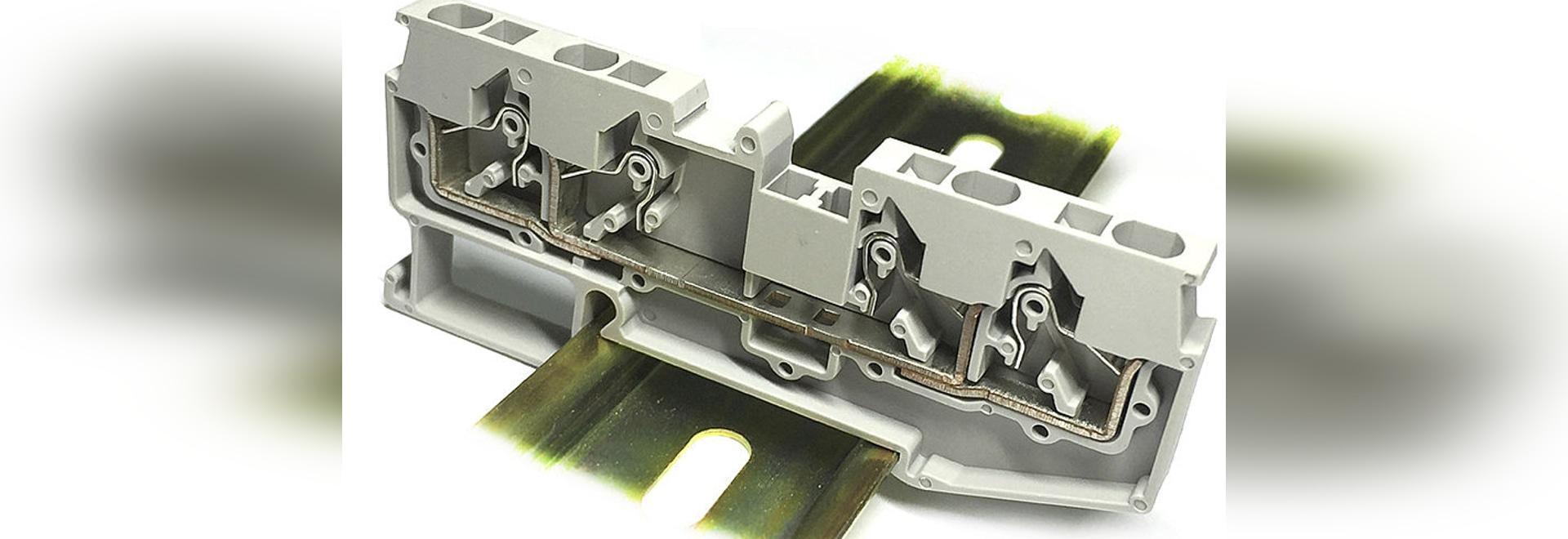 JUT14 verweisen Drücken-in LÄRM auf Schienen Klemmenblock ...