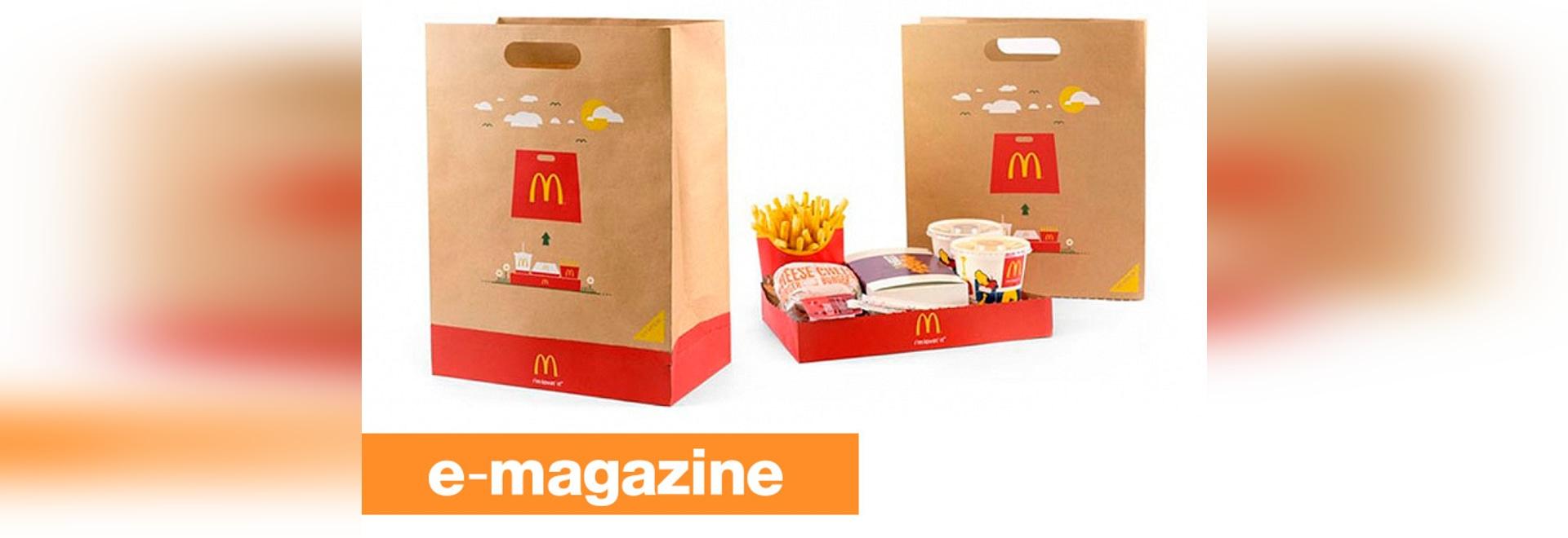 McDonald BagTray: Die zum Mitnehmen Tasche, die ein Behälter wird