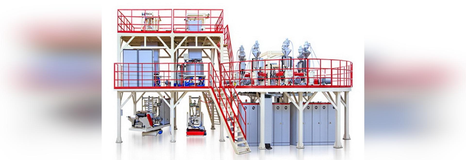 Multi-Blase 7-layer hohe Sperren-Blasfolie-Maschine installiert in Ostchina