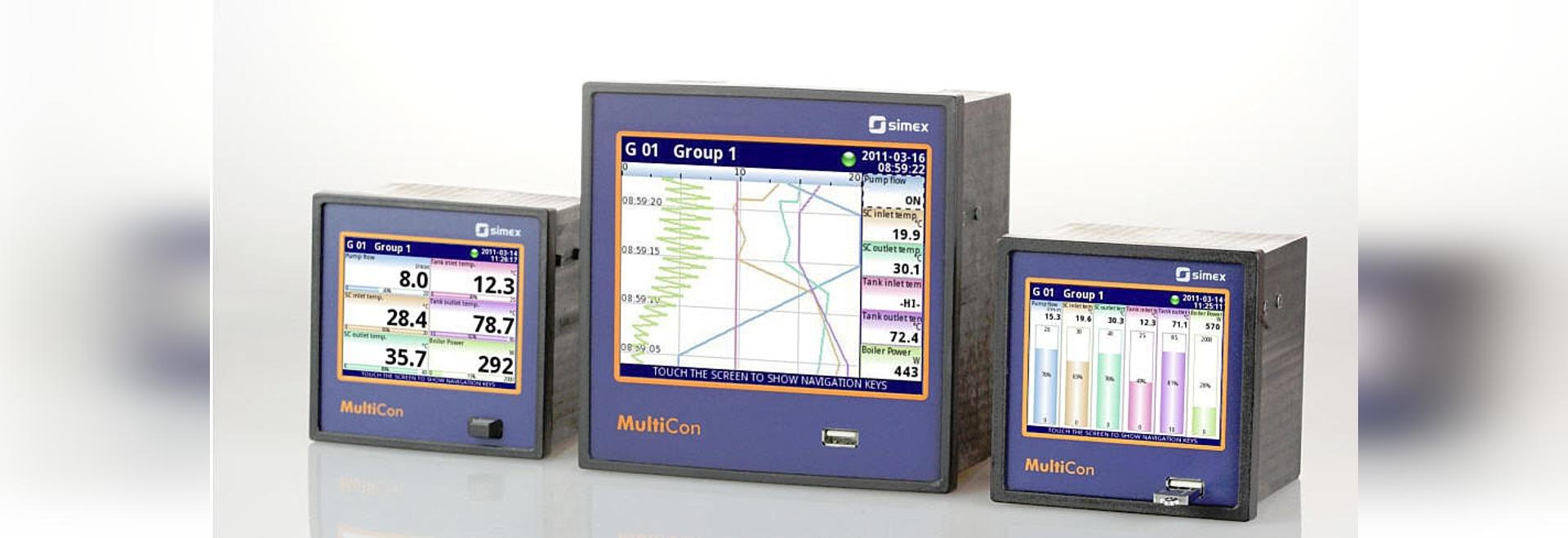 MultiCon = Meßinstrument + Kontrolleur + Recorder + HMI in einem Paket