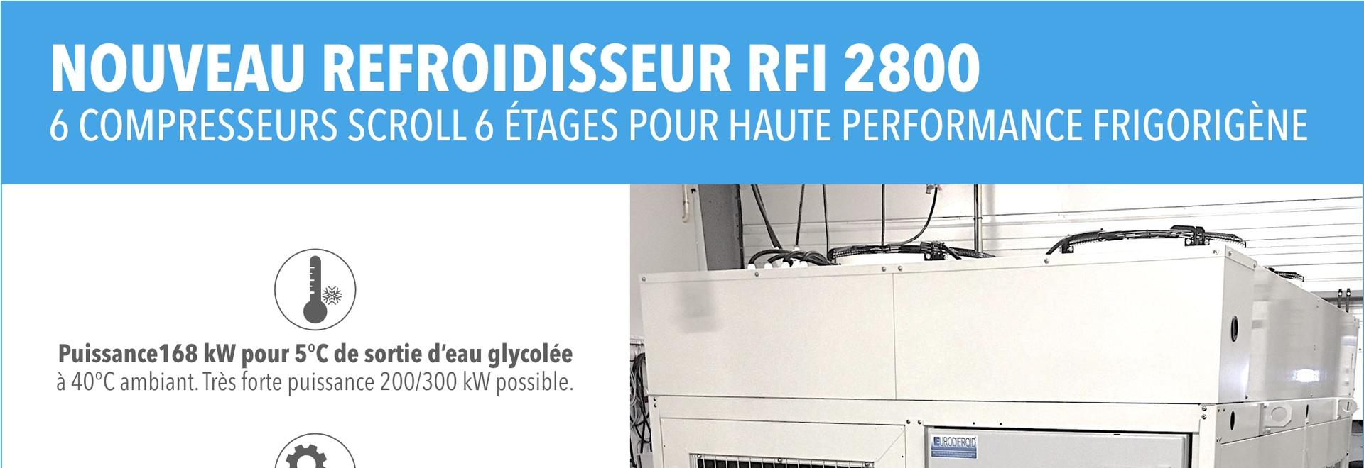 Neue HF-Störung 2800 Kühlvorrichtung mit 6 Rollenkompressoren und eine Energie von 168kW