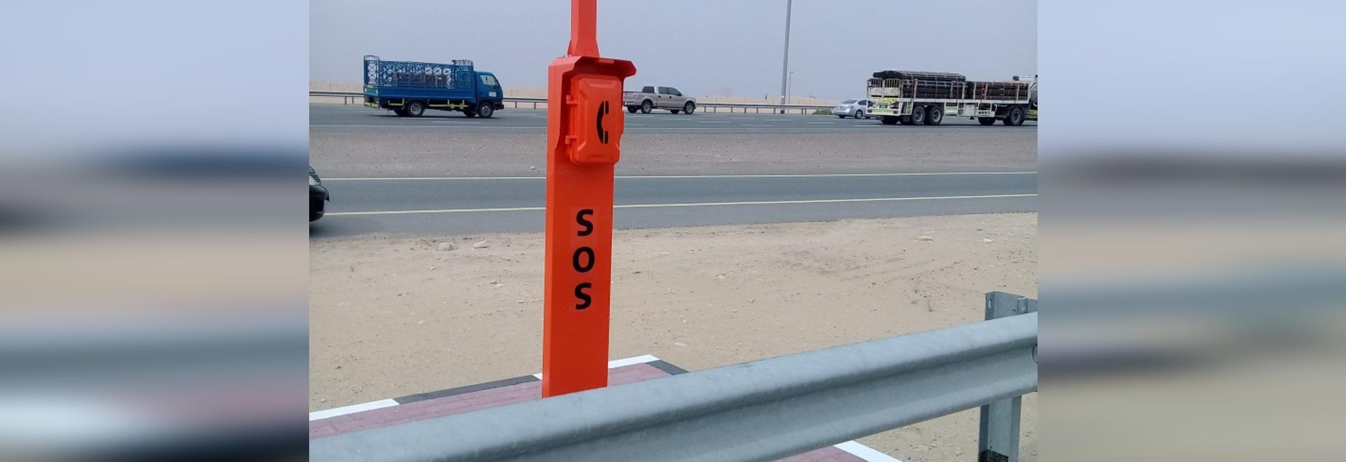 Neues Entwurfs-Notstraßenrand-Telefon für Dubai-Landstraßen-Projekt