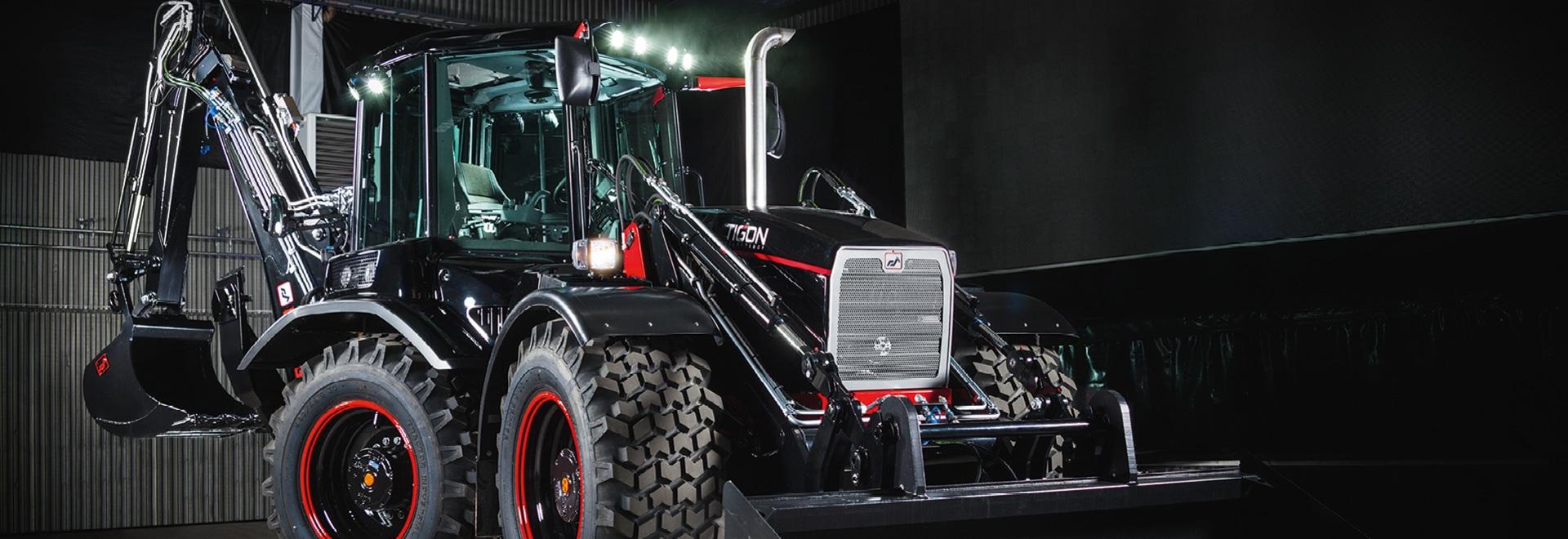 Radantriebe von Bonfiglioli verbessern die Präzision und Effizienz von Huddig-Baggerladern mit der revolutionären Tigon Technology.