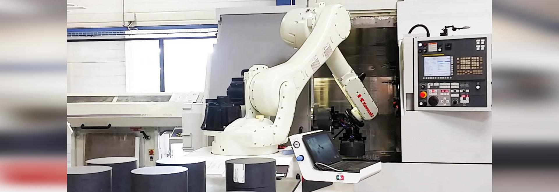 ROBOTFLEX Laden/Roboter für CNC-Maschinen entladend