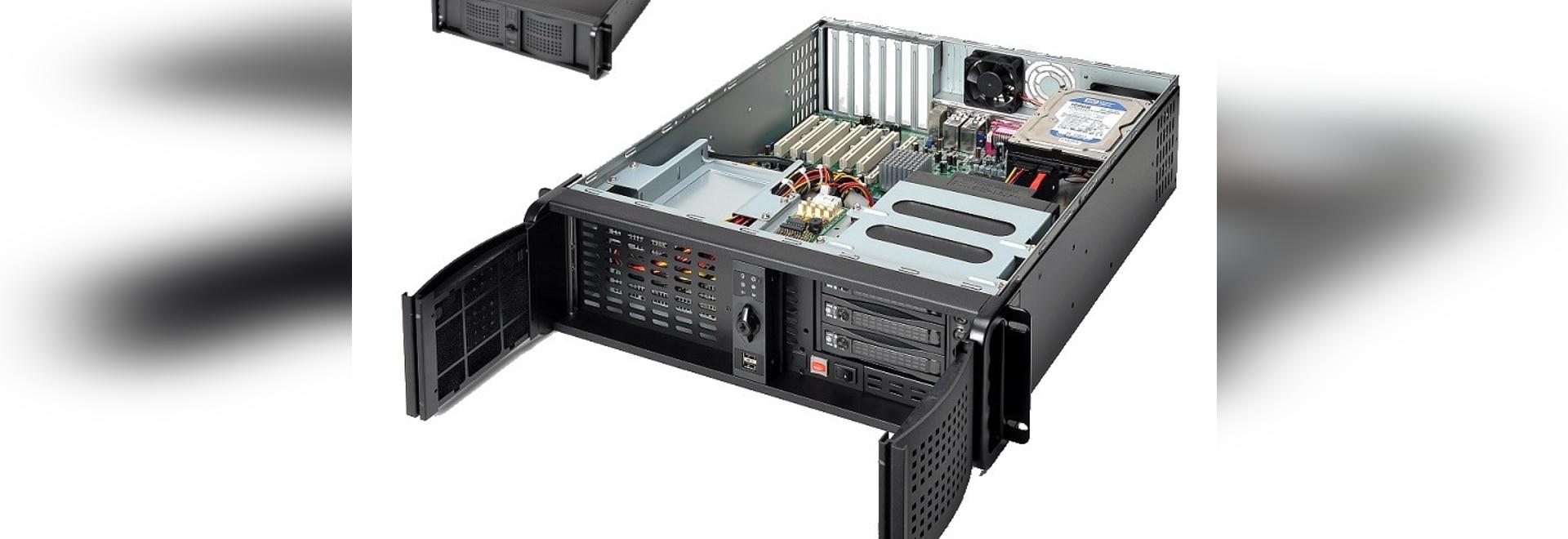 SERVERfahrgestelle Wolke AICSYS Inc. 3U IoT Datenverarbeitungsfür ATX-Motherboard und 10 Antriebsbuchten