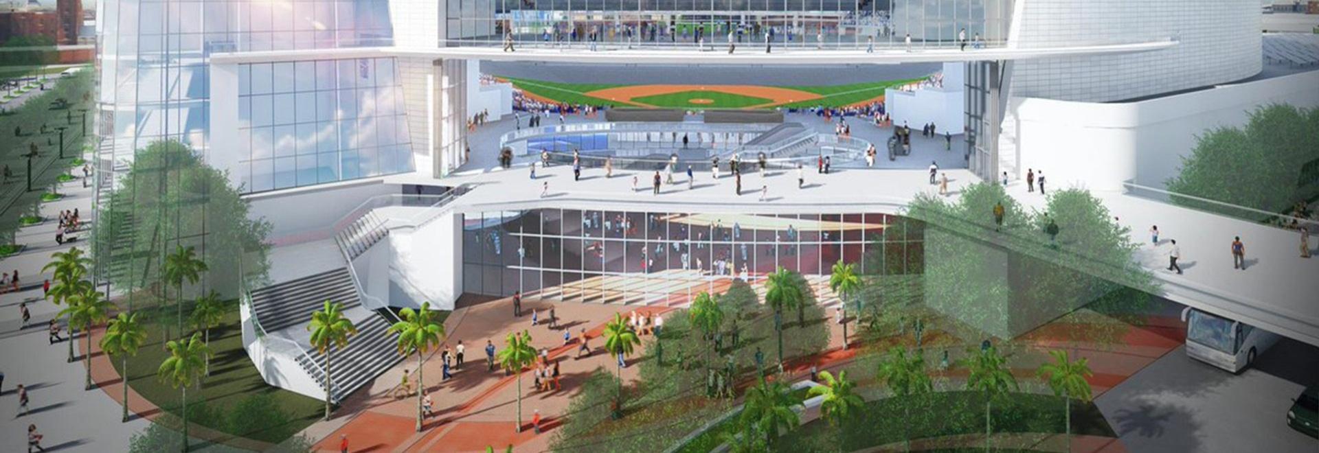 Tampa Bay Rays stellen gewölbtes Stadions-Wiedergabe vor