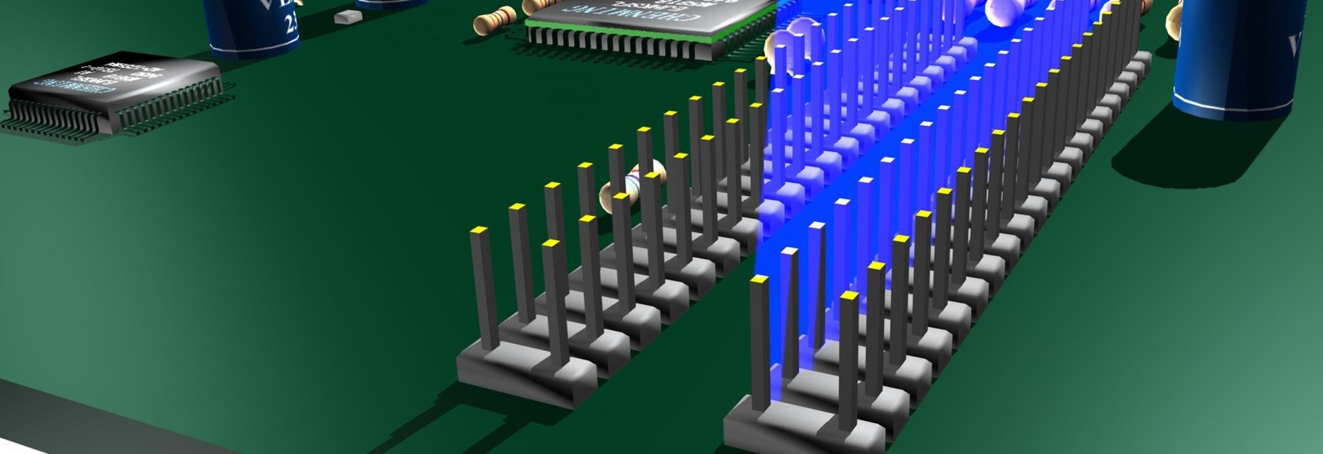 Überprüfung von Pin Alignment in der Produktion von Elektronik