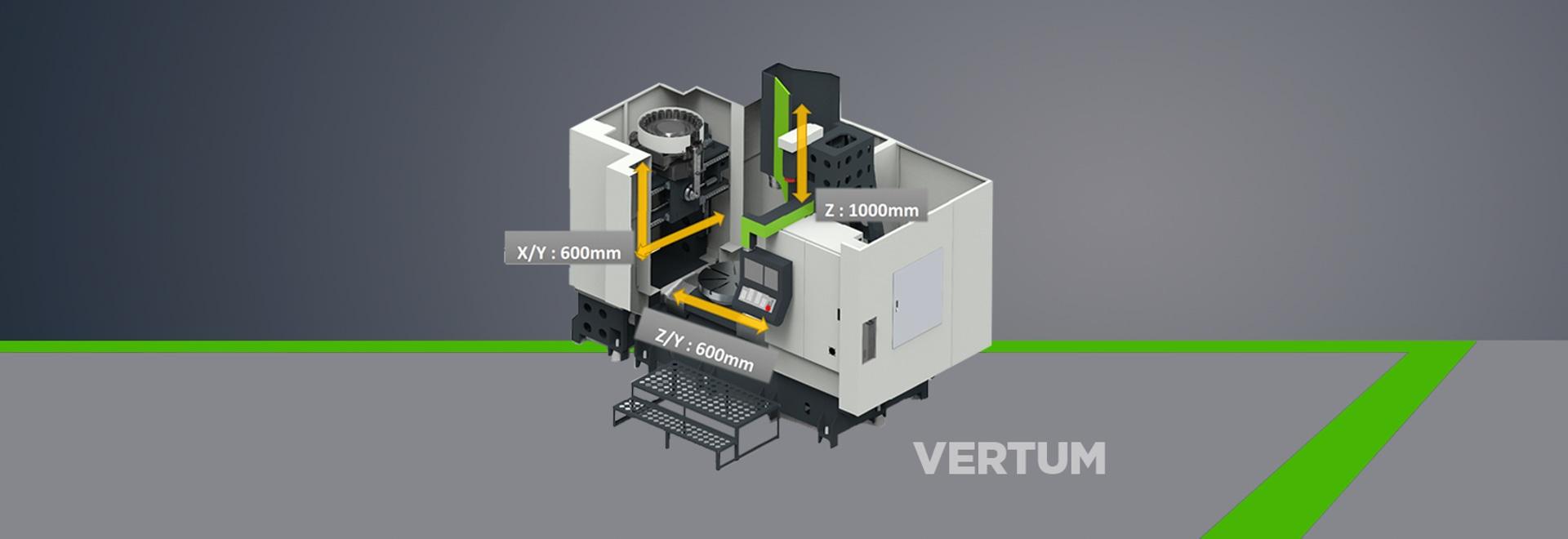 VERTUM stellt einen neuen Standard für das Mehrere Dinge gleichzeitig tun der maschineller Bearbeitung der Flansch-/VentilMaschinenwerkstätten ein