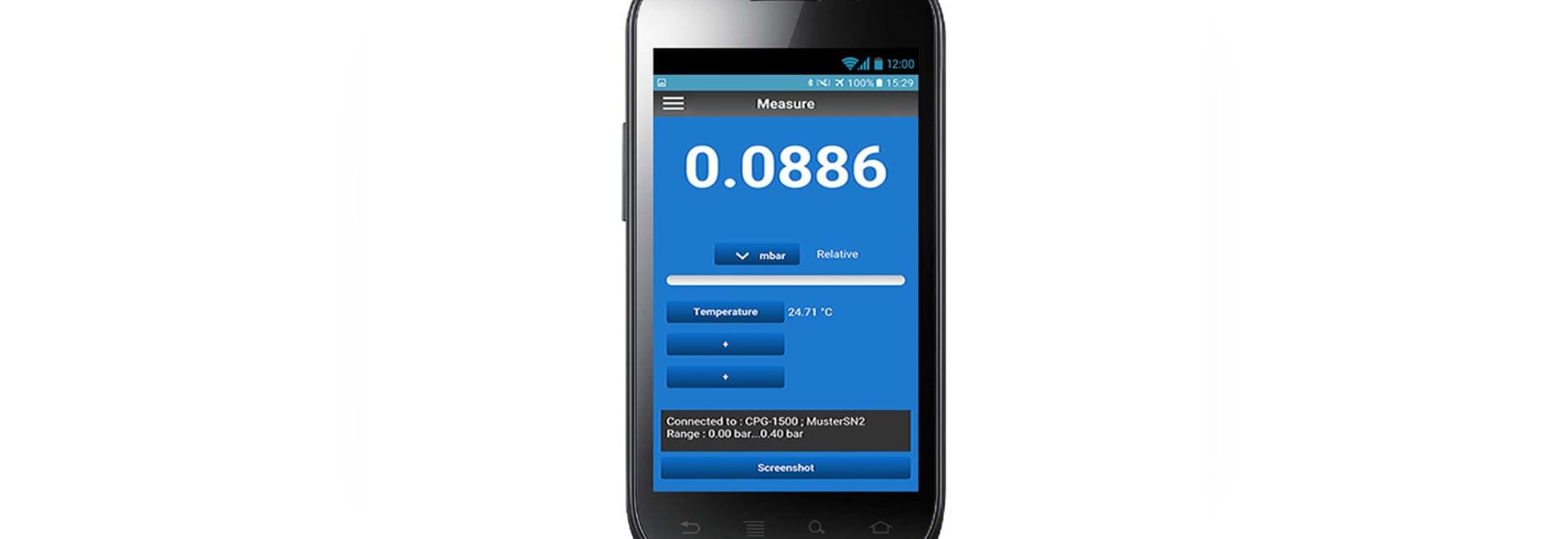 Via App und Smartphone Gerät konfigurieren und auslesen