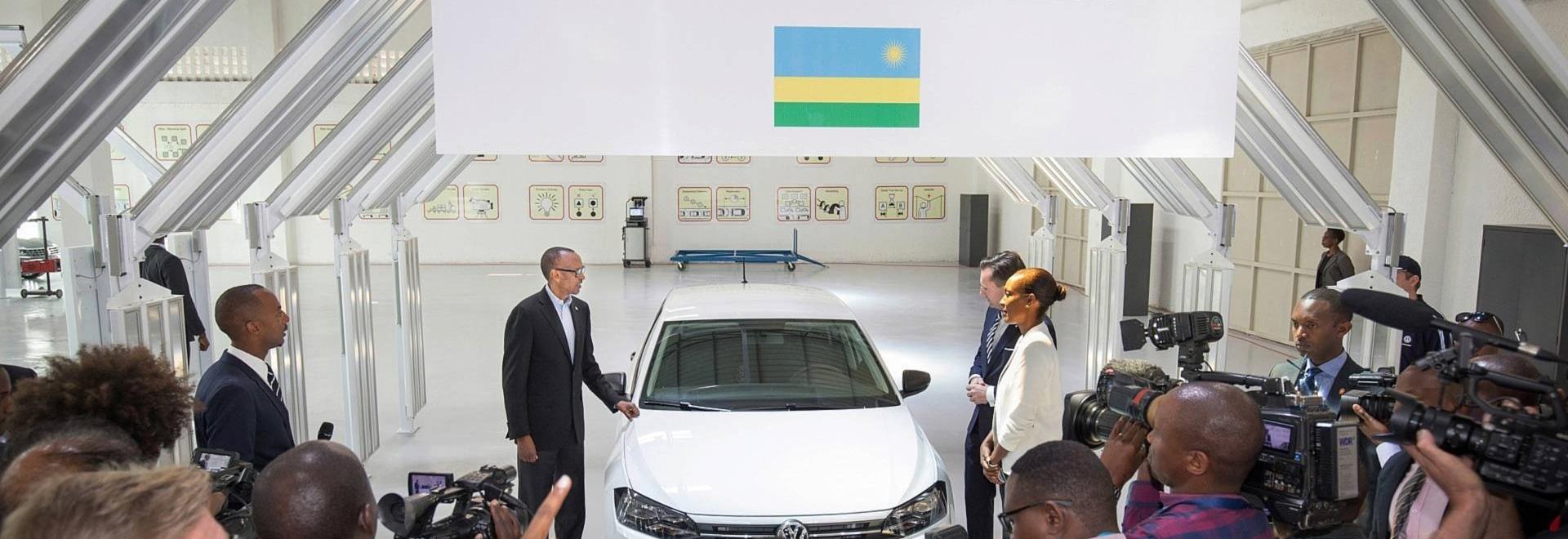 VW stellt Versammlung in Kigali an