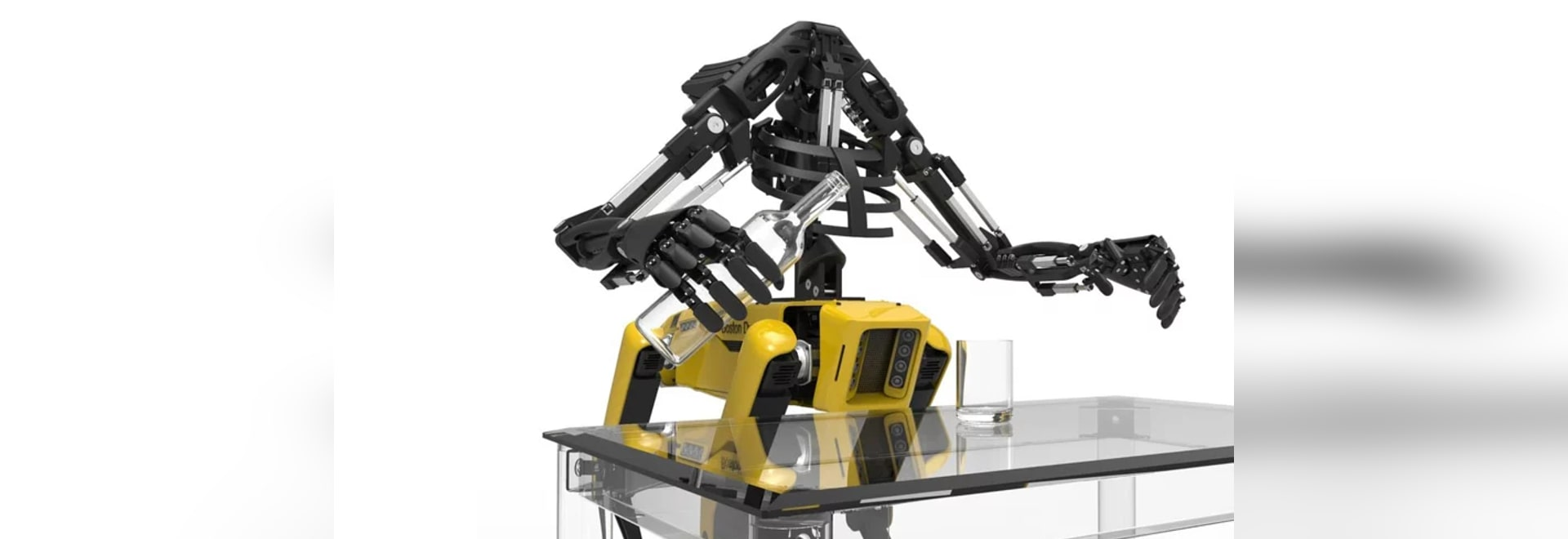Youbionic fügt 3D bionische Druckarme Boston Dynamics-Roboterhund SpotMini hinzu