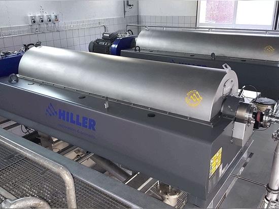 Hiller Dekanter Zentrifuge sorgt für optimale Entwässerungsergebnisse auf der ARA Schönau in der Schweiz