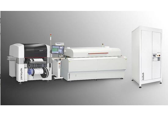 Productronica Messehighlight Essemtecs Vernetzte Work Cell für effizientes Rapid Prototyping und kleine Serien