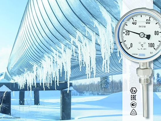 Bimetall-Thermometer auch für -70 °C qualifiziert