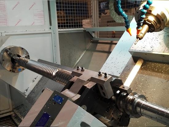 PRÄGE-THREADER-MASCHINE SAPORITI für Extruder-und Einspritzungs-Gießer-Schrauben und Doppelschrauben